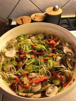 Grøntsagsfyld - en fryd for øje og mund